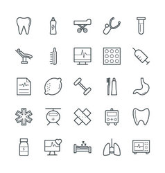 Medical and Health Cool Icons 8 vector
