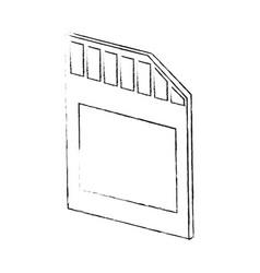 micro sd storage vector image