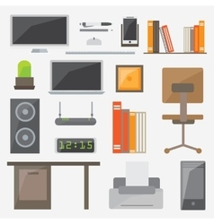 Modern design flat icon collection concept vector image