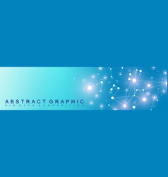 modern technology banner geometric abstract vector image