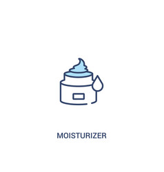 Moisturizer concept 2 colored icon simple line vector