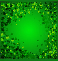 natural greeting card from green rhombuses on a vector image