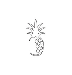 One continuous line drawing whole healthy organic vector