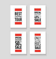 Posters best shopping tour special discount vector