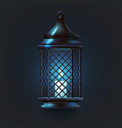 ramadan lantern object vector image