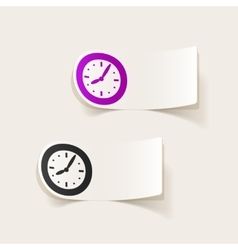 Realistic design element clock vector