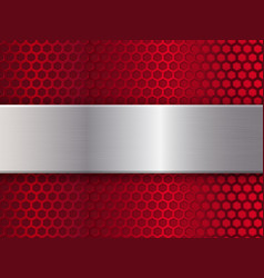 red and silver metal texture vector image