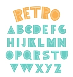 Retro english alphabet vector
