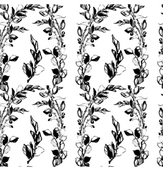 samless plant floral pattern Abstract vector image
