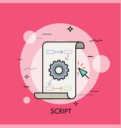 Script thin line concept vector