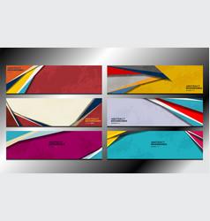 shape banner design vector image