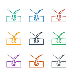 Shave hair in skin icon white background vector