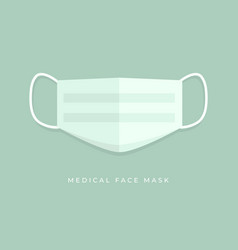 Simple medical face mask icon symbol vector
