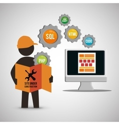site under construction design vector image