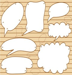 sketchy bubble speech vector image