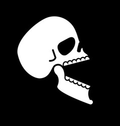 skull open mouth isolated head of skeleton open vector image