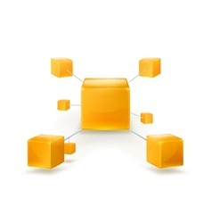 Structure of cubes icon vector