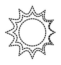 sun isolated symbol cartoon vector image