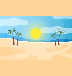 sunrise on seashore abstract view vector image