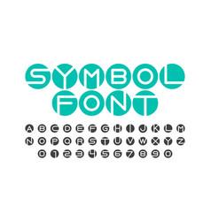 symbol font vector image