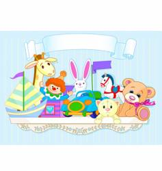 Toy shelf vector