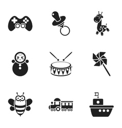 Toys set icons in black style Big collection of vector