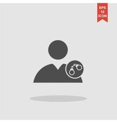 User icon handcuffs vector image