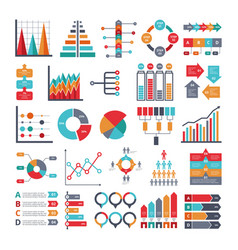 various business symbols for for infographic vector image