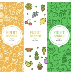 Vegan Banner Flyer Vertical Set vector image