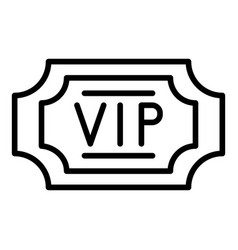 Vip label icon outline style vector