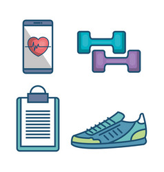 Weareable technology with lifestyle app vector