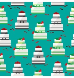 Wedding cake seamless background vector