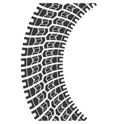 Wheel print icon Tire design graphic vector