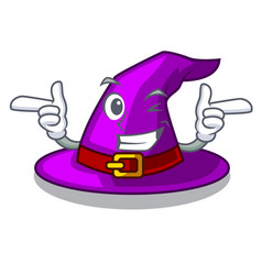 Wink with hat in the character closet vector