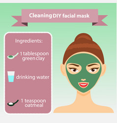 young woman with facial mask vector image