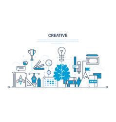 creativity creative thinking planning ideas vector image vector image
