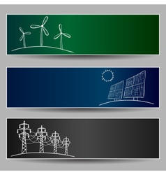 power station energy banners vector image