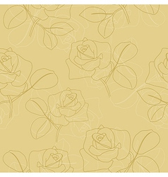 Seamless light olive texture with flowers vector