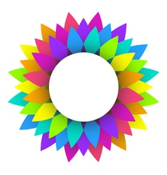 abstract rainbow flower logo design vector image