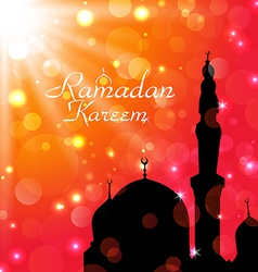 Celebration card for Ramadan Kareem vector image