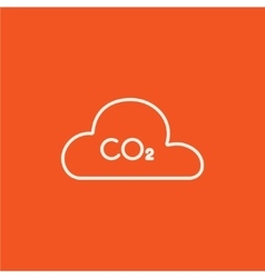 CO2 sign in cloud line icon vector image vector image