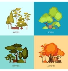 Forest Design Concept vector image vector image