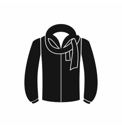 Jacket icon black simple style vector image vector image