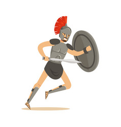 roman warrior character man wearing roman soldier vector image