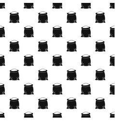 sack full of flour pattern vector image vector image