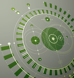 Technical blueprint green digital background with vector image vector image
