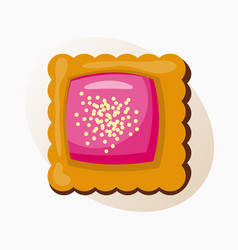 cookie homemade breakfast bake cakes isolated and vector image vector image