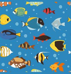 Exotic tropical fish underwater ocean or aquarium vector