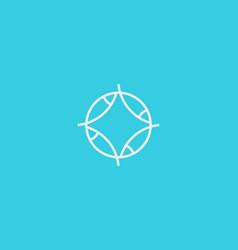 fish line logo marine round logotype vector image vector image