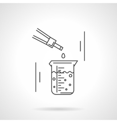 Laboratory research flat line icon vector image vector image